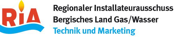 Ria Logo Regionaler Installateurausschuss Bergishes Land Gas/Wasser, Technik und Marketing